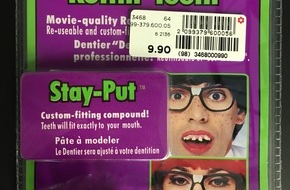Manor AG: Manor rappelle l'article de carnaval « Dentier Korn Pone 'Rottin' Teeth' »