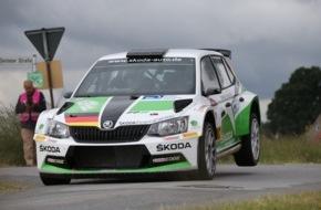 Skoda Auto Deutschland GmbH: SKODA Youngster Fabian Kreim feiert ersten Sieg im neuen Fabia R5