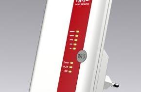 AVM GmbH: Neuer FRITZ!WLAN Repeater 450E für mehr Reichweite von WLAN-Netzen (FOTO)