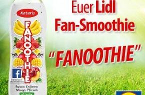 LIDL: Fruchtig-frische Fan-Aktion / Lidl-Fans kreierten auf Facebook ihren Lieblings-Smoothie, der ab 14. Juli im Kühlregal stehen wird