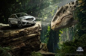 "Mercedes-Benz Schweiz AG: GLE Coupé startet als Filmstar in ""Jurassic World"""