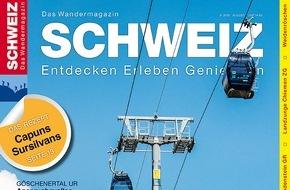 Wandermagazin SCHWEIZ: Bahnsinn: Die neue Ausgabe «Bergbahnwandern»