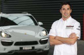Porsche Schweiz AG: Neel Jani a reçu son Porsche Cayenne Diesel (Image)