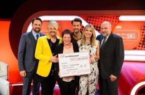SKL - Millionenspiel: Volltreffer ins Glück: Schützenkönigin Margit Schroeder aus Oberbayern gewinnt 1 Million Euro bei der SKL-Millionen-Show