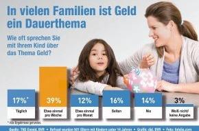 BVR Bundesverband der dt. Volksbanken und Raiffeisenbanken: Umfrage: Umgang mit Geld noch nicht überall Thema in Deutschlands Familien (mit Bild)