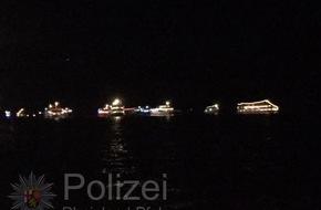 Wasserschutzpolizeiamt Rheinland-Pfalz: WSPA-RP: Rhein in Flammen Bingen-Rüdesheim 2016