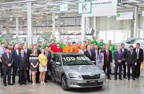 Skoda Auto Deutschland GmbH: Jubiläum: 100.000ster SKODA Superb der dritten Generation produziert