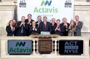 Actavis Inc.: Watson Pharmaceuticals, Inc. heisst ab sofort Actavis, Inc.