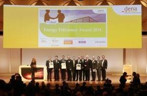 Deutsche Energie-Agentur GmbH (dena): dena verleiht Energy Efficiency Award 2014 / Herausragende Energieeffizienzprojekte in der Industrie gewürdigt