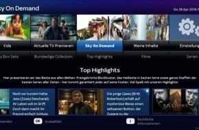Sky Deutschland: Ausbau der Kooperation mit der Deutschen Telekom: Sky On Demand und Sky Box Sets starten auf dem neuen EntertainTV