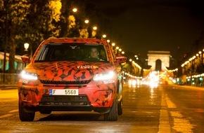 Skoda Auto Deutschland GmbH: SKODA KODIAQ inspiziert die Schlussetappe der Tour de France (FOTO)