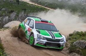 Skoda Auto Deutschland GmbH: Pontus Tidemand beschert SKODA Motorsport den ersten Saisonsieg in der WRC 2
