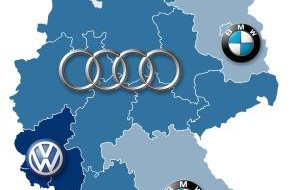 CosmosDirekt: Autoträume: In Stuttgart Audi, in Hamburg Mercedes
