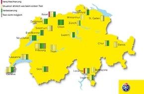 Touring Club Schweiz/Suisse/Svizzero - TCS: Ein Drittel der Fussgängerstreifen ist sicherer geworden