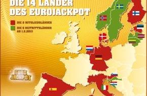 Eurojackpot: Europa ist ab heute größer