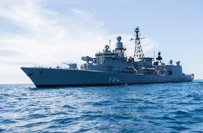 """Presse- und Informationszentrum Marine: Fregatte """"Lübeck"""" kehrt von """"Atalanta"""" zurück"""