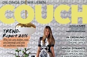 Gruner+Jahr, Couch: Fashion-Hauptstadt Berlin: Was geht? Na, einiges! / Exklusives Fotoshooting mit deutschen Nachwuchsschauspielern im Wohn- und Fashion-Magazin COUCH