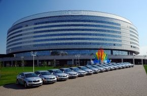 Skoda Auto Deutschland GmbH: SKODA Modell-Powerplay bei 78. IIHF Eishockey-WM in Weißrussland