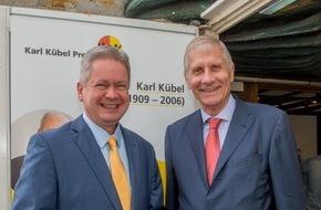 Karl Kübel Stiftung für Kind und Familie: Karl Kübel Preis an Ulrich Wickert vergeben / Medienpreis in Bensheim verliehen