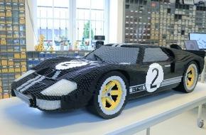 Ford-Werke GmbH: LEGO-Version des Ford GT-Rennwagen feiert Auftritt bei den 24 Stunden von Le Mans