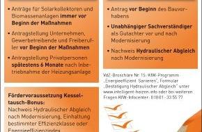 VdZ - Forum für Energieeffizienz in der Gebäudetechnik e.V.: Fördergelder für die energetische Sanierung des Eigenheims / Was es bei der Beantragung zu beachten gilt