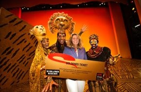 Stage Entertainment GmbH: Stage Entertainment feiert 50 Millionste Besucherin / Hamburgerin ist die 50 Millionste Besucherin einer Show von Stage in Deutschland - Musicalboom in Deutschland ungebrochen