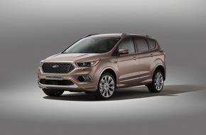 Ford-Werke GmbH: Ford präsentiert neuen Kuga Vignale - aufgewertetes SUV mit exklusiven Services erweitert Premium-Angebot