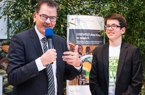 Messe Berlin GmbH: Grüne Woche 2016: Schüler initiierte Pflanzung von weltweit 14 Milliarden Bäumen