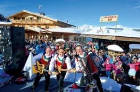 SkiWelt Wilder Kaiser-Brixental Marketing GmbH: Im März steppt in der SkiWelt der Bär: Drei Wochen Partystimmung - und Skilehrer als Pistenguides