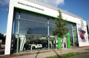Skoda Auto Deutschland GmbH: SKODA Zentrum Wiesbaden eröffnet im neuen Corporate Design