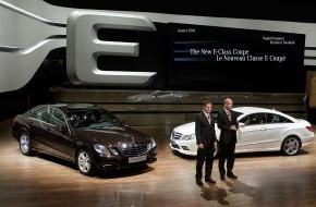 Daimler AG: Mercedes-Benz presents new E-Class sedan and coupé in Geneva / Efficiency can be this beautiful