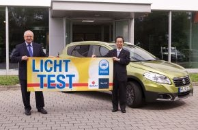 Zentralverband Deutsches Kraftfahrzeuggewerbe: Licht-Test 2014 verlost Suzuki SX4 S-Cross