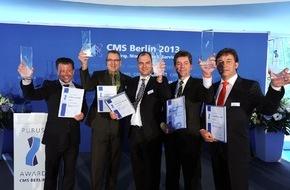 Messe Berlin GmbH: 3CMS 2015 (22. bis 25. September): Bewerbungsstart für den CMS Purus Award 2015 - Begehrte Auszeichnung für Design, Funktion und Innovation