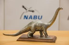 """NABU: NABU:Philipp zu Guttenberg erhält """"Dinosaurier des Jahres 2015""""/ Negativ-Preis geht an Chef-Lobbyisten der Waldeigentümer"""
