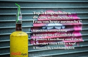 Coca-Cola Deutschland: Coca-Cola light Studie über Frauen zeigt: Unabhängig ist das neue Sexy (FOTO)