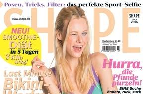 Bauer Media Group, Shape: Jetzt in SHAPE: Raus aus der Zuckerfalle