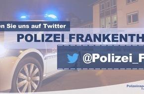 """Polizeidirektion Ludwigshafen: POL-PDLU: Frankenthal: 23- Jähriger leistet nach """"Streitschlichtung"""" Widerstand"""