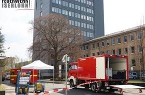 Feuerwehr Iserlohn: FW-MK: Feuerwehreinsatz im Kreishaus