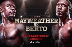 Sky Deutschland: Der Rekordkampf live und exklusiv bei Sky: Mayweather vs. Berto in der Nacht vom 12. auf den 13. September