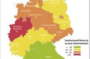 BÜRGEL Wirtschaftsinformationen GmbH & Co. KG: Statistik legt erstmals wieder zu: 1,8 Prozent mehr Firmeninsolvenzen im ersten Halbjahr