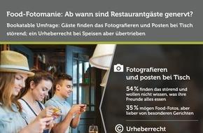 Bookatable GmbH & Co.KG: Bitte keine Fotos! / Aktuelle Bookatable-Umfrage: Die meisten Gäste finden das Fotografieren bei Tisch lästig; ein Gesetz dagegen jedoch übertrieben