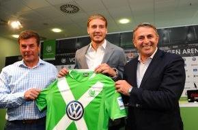 VfL Wolfsburg-Fußball GmbH: VfL Wolfsburg-Presseservice: Sturm-Neuzugang:Der VfL Wolfsburg verpflichtet den dänischen Nationalspieler Nicklas Bendtner.