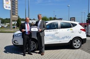 Hyundai Motor Deutschland GmbH: Flughafen Köln/Bonn setzt Brennstoffzellenfahrzeug Hyundai ix35 ein