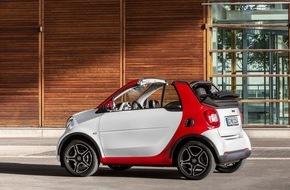 smart: Sommer in der Stadt mit dem neuen smart fortwo cabrio