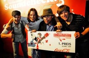 Coca-Cola Schweiz GmbH: Vier Brüder gewinnen den «MyCokemusic Soundcheck 2009»