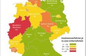 BÜRGEL Wirtschaftsinformationen GmbH & Co. KG: Firmeninsolvenzen sinken in Deutschland um 2,2 Prozent