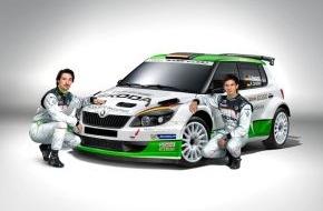 """Skoda Auto Deutschland GmbH: SKODA startet unter dem Motto """"Fit machen für die Zukunft"""" ins neue Rallye-Jahr 2014"""