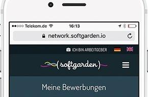 softgarden: Bewerbungsmanagement für Bewerber / Mit softgarden können Bewerber jederzeit den Status ihrer Bewerbung einsehen