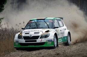 Skoda Auto Deutschland GmbH: SKODA Duo Wiegand/Christian gewinnt Qualifikation zur Rallye Lettland