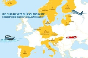 Eurojackpot: Halbjahresbilanz 2015: Rekordjackpot und Multimillionäre